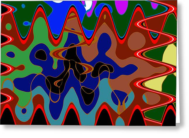 Unique Colorful Abstract Wave Art Graphic Colors Shades And Tone Created By Artist Navinjoshi   Buy  Greeting Card