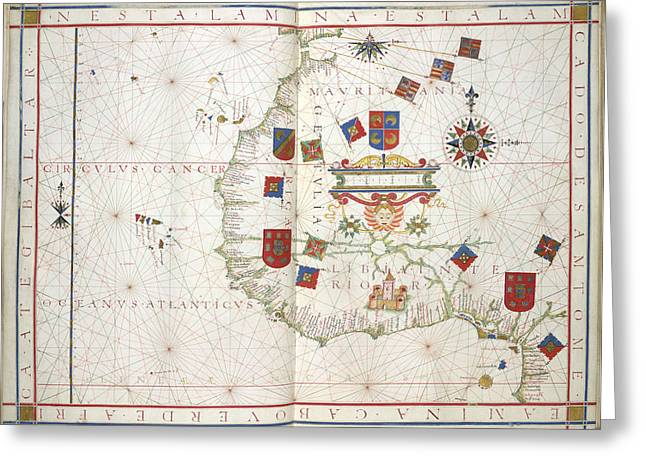 Universalis Orbis Hydrographia Greeting Card by British Library