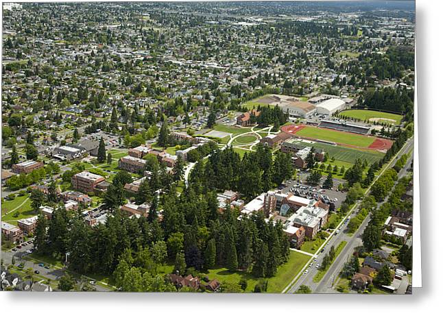 University Of Puget Sound U.p.s., Tacoma Greeting Card