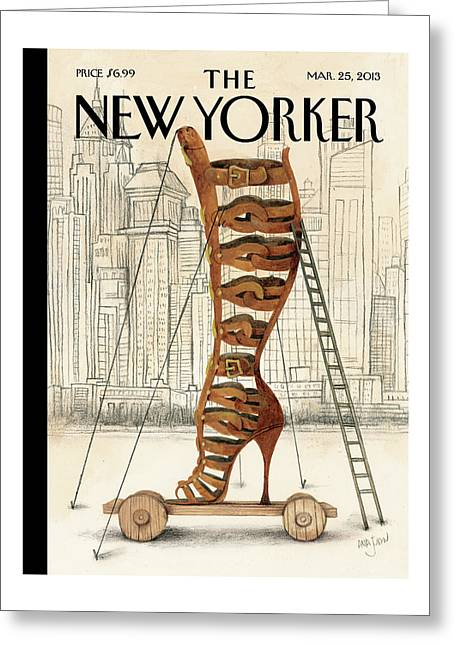 New Yorker March 25th, 2013 Greeting Card