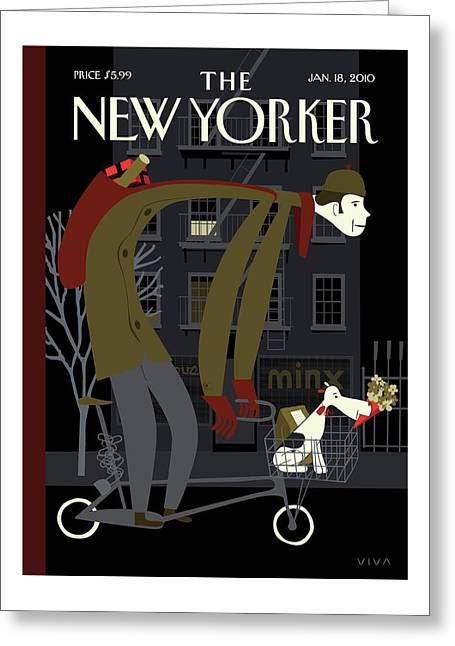 New Yorker January 18th, 2010 Greeting Card by Frank Viva