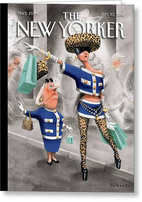 New Yorker September 10th, 2012 Greeting Card by Ian Falconer