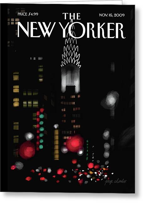 New Yorker November 16th, 2009 Greeting Card by Jorge Colombo-Gomes