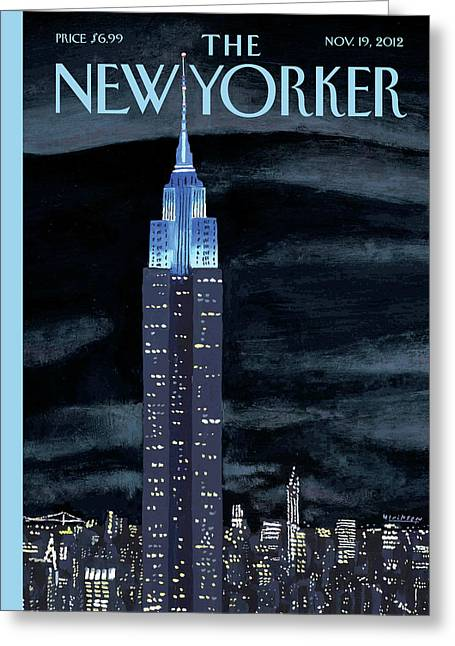 New Yorker November 19th, 2012 Greeting Card by Mark Ulriksen