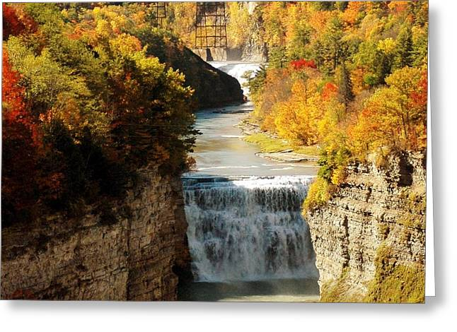 Upper Falls Greeting Card by Kathleen Struckle
