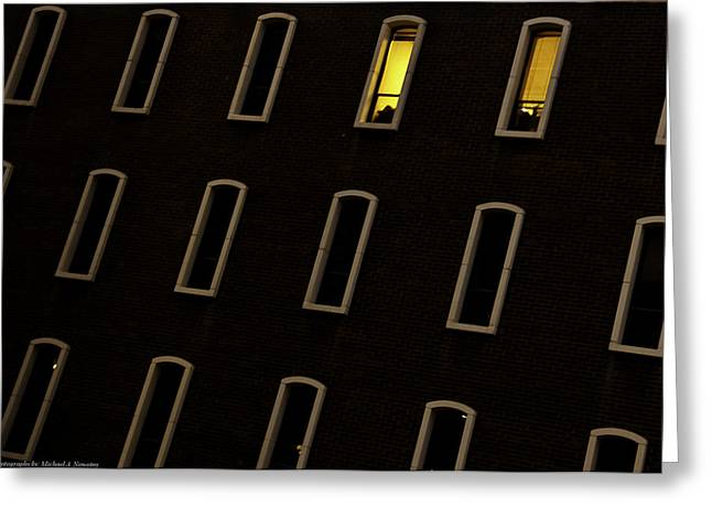 Urban Abstract 3 Greeting Card by Michael Nowotny