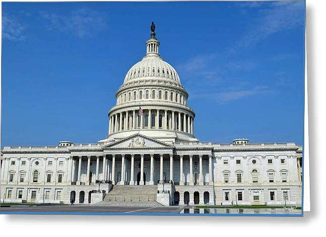 Us Capitol Building Greeting Card
