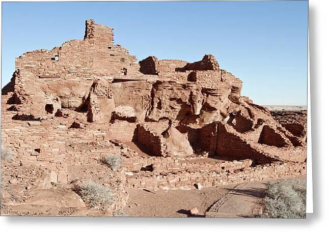 Usa, Arizona Native American Ruins Greeting Card by Luc Novovitch