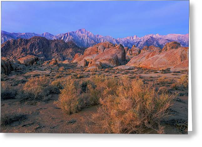 Usa, California, Alabama Hills Greeting Card by Jaynes Gallery