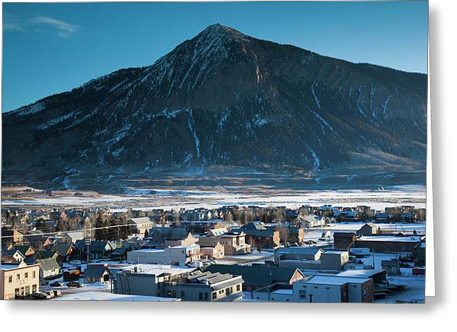 Usa, Colorado, Crested Butte, Elevated Greeting Card by Walter Bibikow