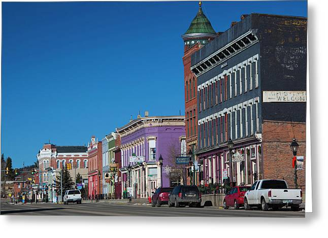 Usa, Colorado, Leadville, Downtown Greeting Card by Walter Bibikow