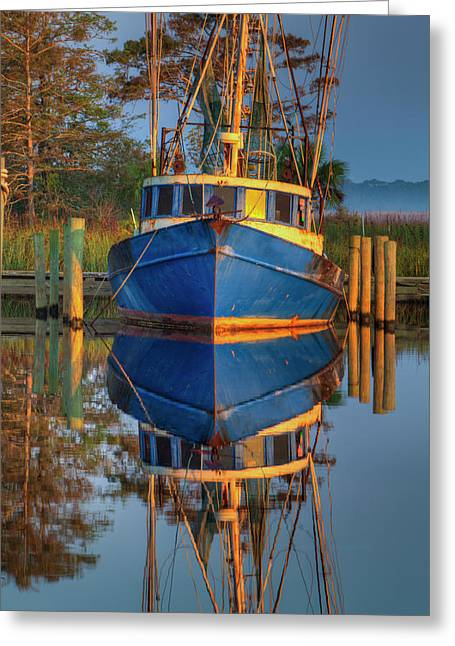 Usa, Florida, Apalachicola, Shrimp Boat Greeting Card by Joanne Wells