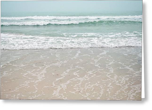 Usa, Florida, Sarasota, Crescent Beach Greeting Card