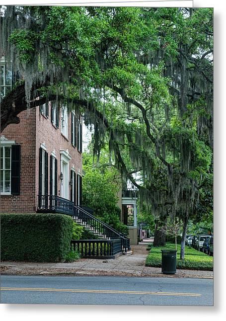 Usa, Ga, Savannah, Historic District Greeting Card