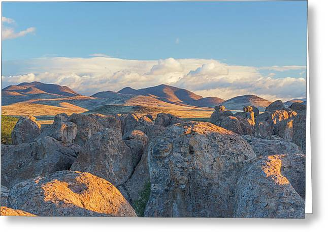 Usa, New Mexico, City Of Rocks State Greeting Card by Jaynes Gallery
