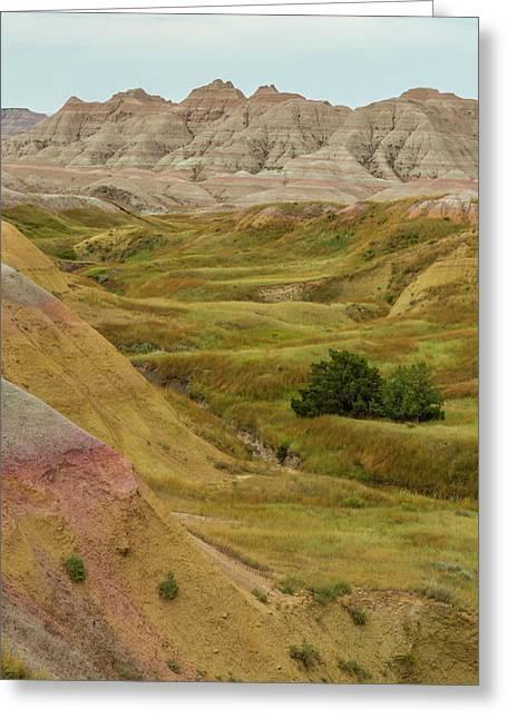 Usa, South Dakota, Badlands National Greeting Card by Jaynes Gallery