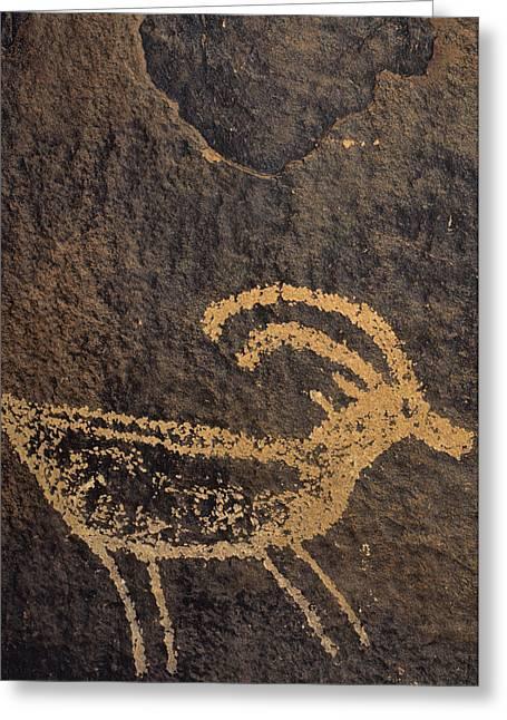 Usa, Utah, Petroglyphs, Sandstone Greeting Card by Gerry Reynolds
