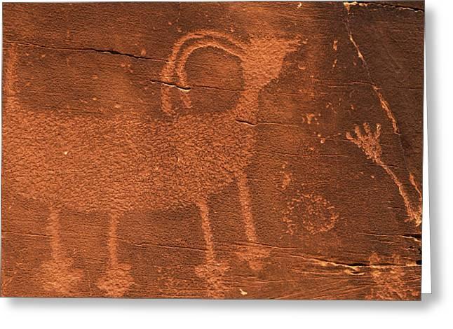 Usa, Utah Prehistoric Petroglyph Rock Greeting Card