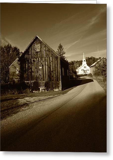 Usa, Vermont, Northeast Kingdom, Waits Greeting Card