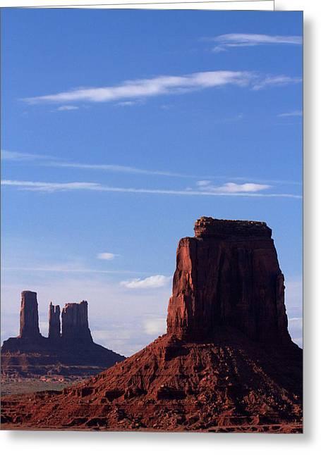 Utah Arizona Border, Navajo Nation Greeting Card by David Wall