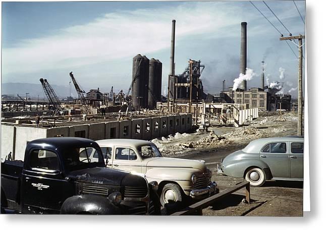 Utah Steel Mill, 1942 Greeting Card by Granger