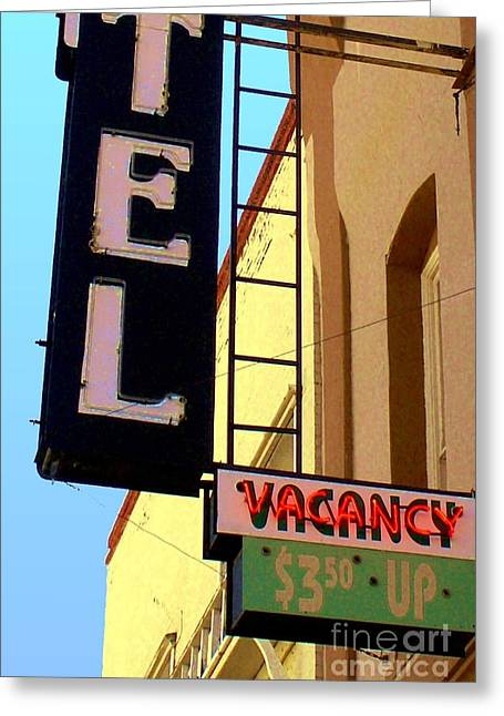 Greeting Card featuring the digital art Vacancy by Valerie Reeves
