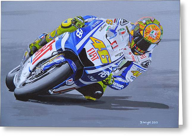 Valentino Rossi Painting by David Wright