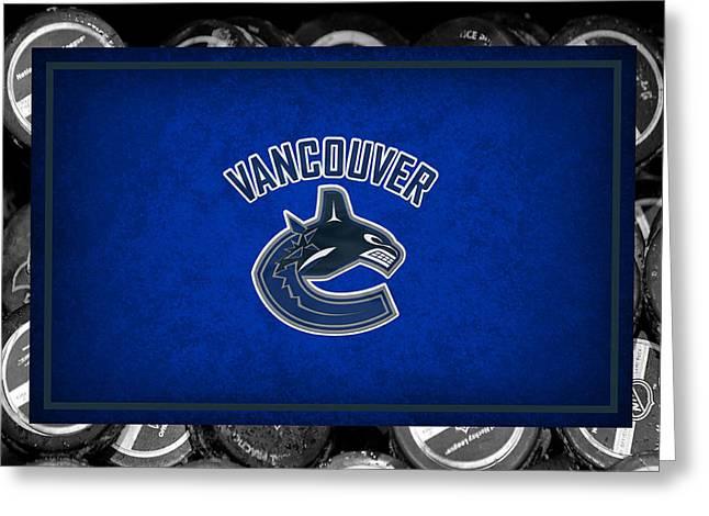 Vancouver Canucks Greeting Card by Joe Hamilton