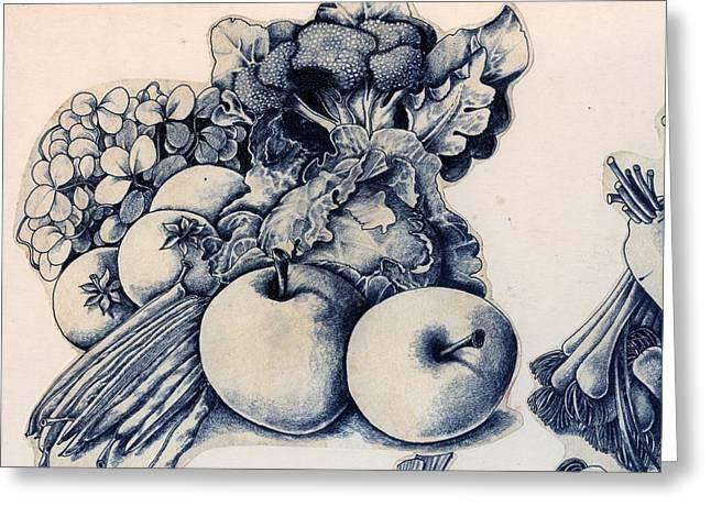 Vegetables Greeting Card by Arthur Glendinning