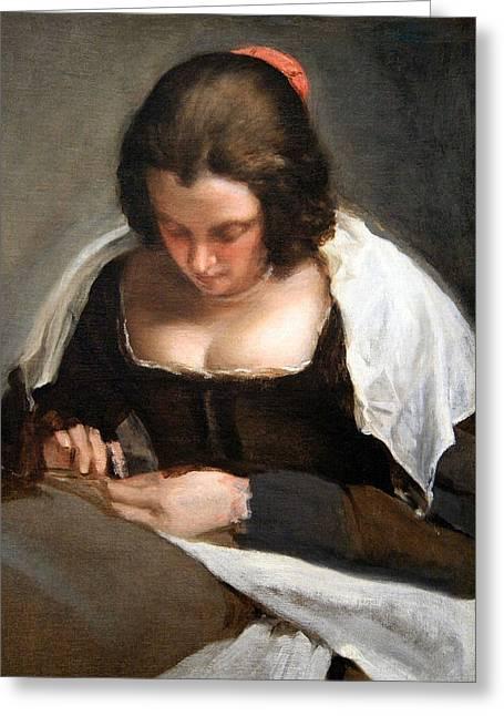 Velazquez's The Needlewoman Greeting Card