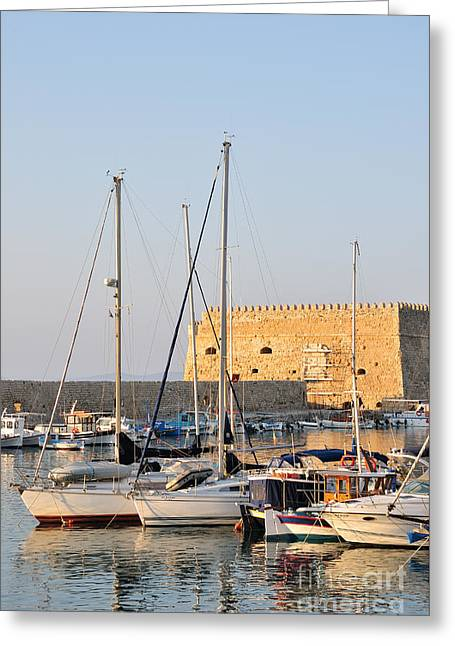 Venetian Fortress In Iraklio City Greeting Card by George Atsametakis