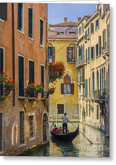 Venice Greeting Card by Brian Jannsen