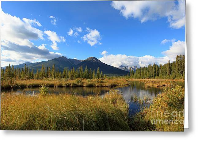 Vermillion Lakes Banff Alberta Greeting Card