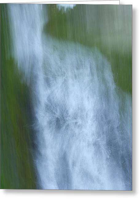 Vidae Falls In Crater Lake National Greeting Card by Phil Schermeister