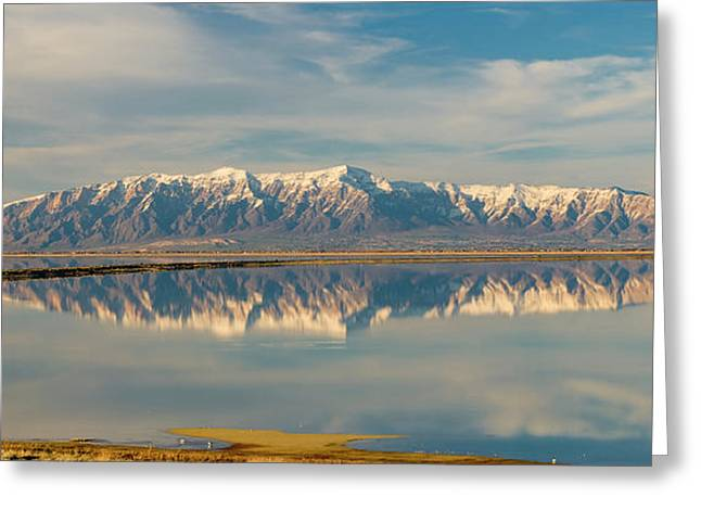 View From Antelope Island Causeway Greeting Card by Howie Garber