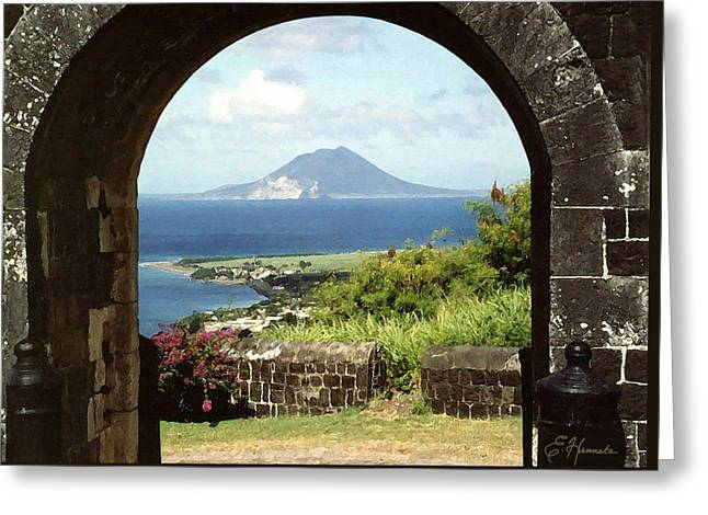 View From Brimstone Hill Fortress Greeting Card by Ellen Henneke