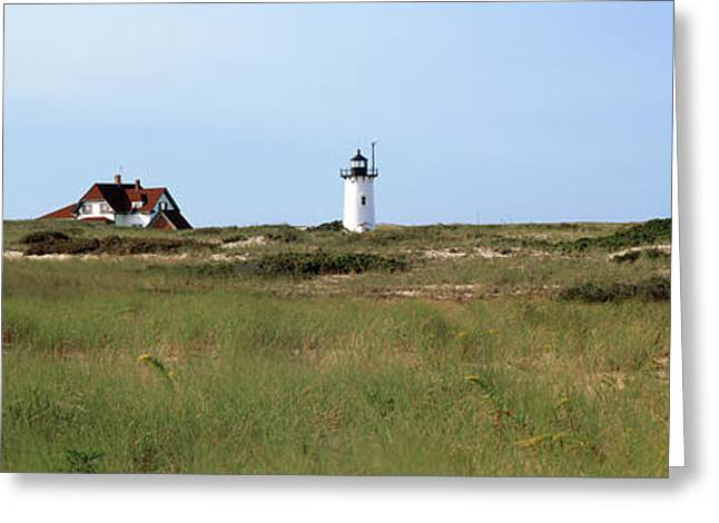 View Of A Lighthouse, Race Point Light Greeting Card by Panoramic Images