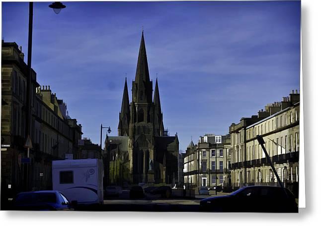 View Of Episcopal Cathedral In Edinburgh Greeting Card by Ashish Agarwal