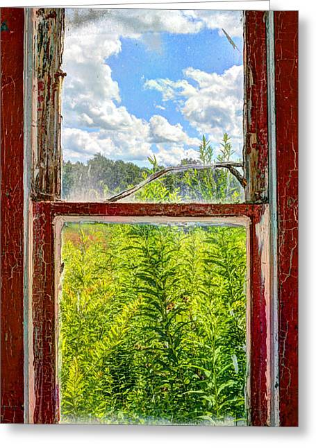 View Through A Window Greeting Card