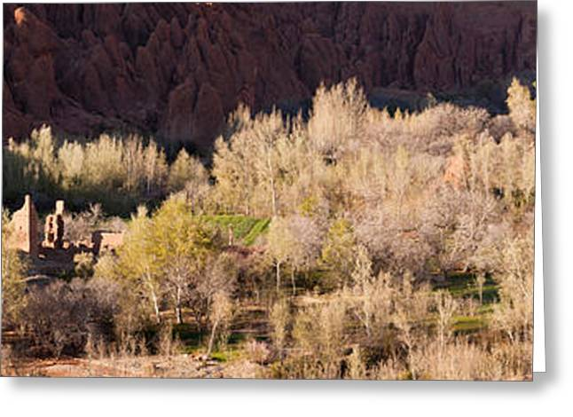 Village In The Dades Valley, Dades Greeting Card