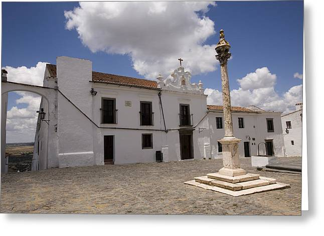 Village Of Monsaraz Portugal Greeting Card by Jim  Wallace