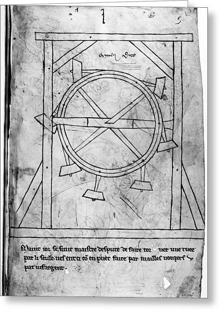 Villard De Honnecourt Greeting Card by Granger