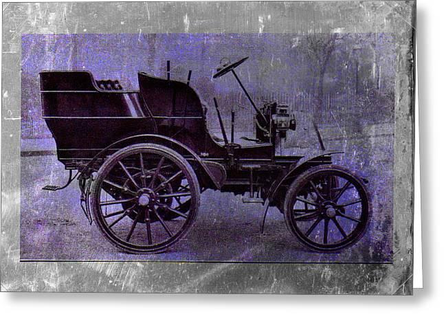 Vintage Car Greeting Card by David Ridley