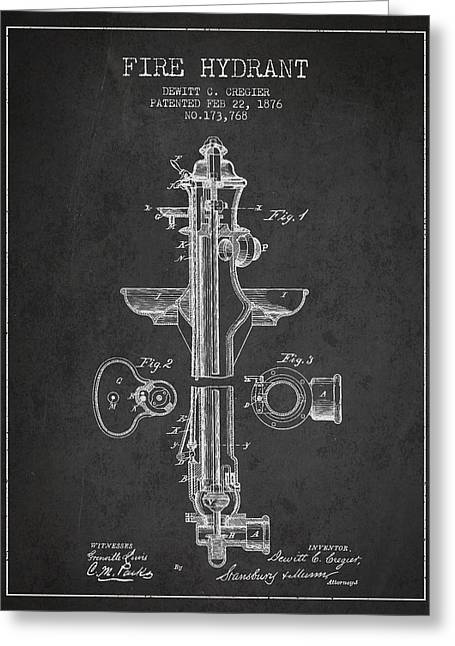 Vintage Fire Hydrant Patent From 1876 Greeting Card by Aged Pixel