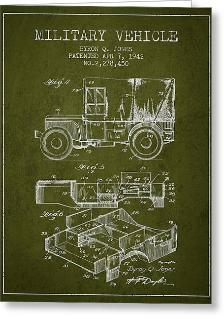 Vintage Military Vehicle Patent From 1942 Greeting Card by Aged Pixel