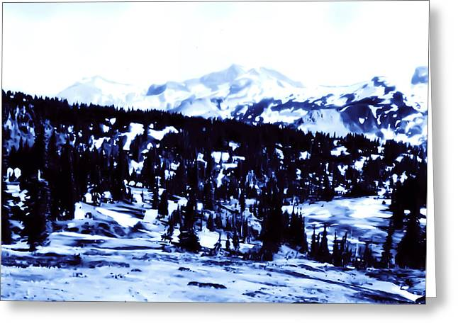 Greeting Card featuring the photograph Vintage Mount Rainier Forest Early 1900 Era... by Eddie Eastwood