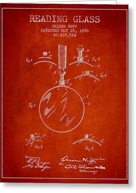 Vintage Reading Glass Patent From 1890 Greeting Card