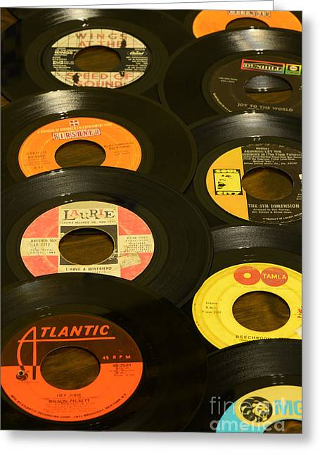 Vinyl Lover Greeting Card by Paul Ward