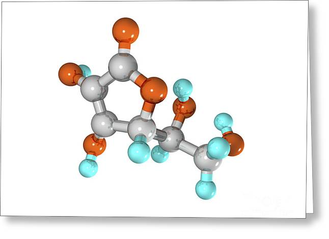 Vitamin C Molecule Greeting Card