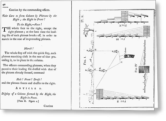 Von Steuben Drill Manual Greeting Card